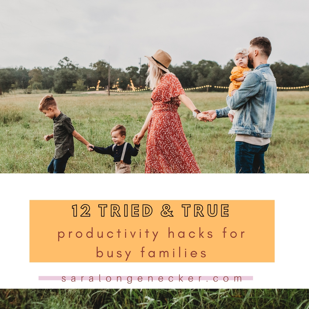 productivity hacks for busy families